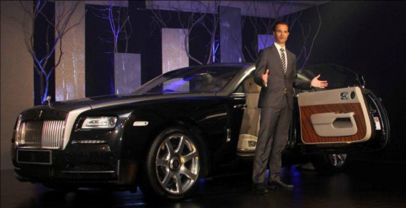 Herfried Hasenoehrl, General Manager for Emerging Markets – Asia, Rolls-Royce Motor Cars, at the launch of the Wraith.